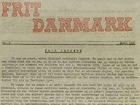Det første nummer af det illegale blad Frit Danmark april 1942