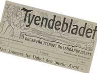 Første nr. af Tyendebladet