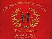 Arbejdsmændenes Fagforenings fane fra Tielst og omegn fra 1896