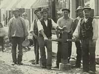 Brolæggere i Århus. 1890'erne