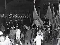 Blokade foran La Cabana