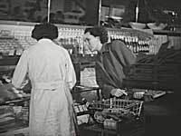 Fra HB-selvbetjeningsbutik ca. 1950