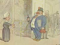 """""""Endelig en kvalificeret ansøger"""". Satirisk tegning ca. 1924. Kvinden på tegningen er sandsynligvis Danmarks første kvindelige minister Nina Bang"""