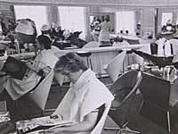 Frisørsalon fra 1960'erne