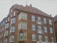AAB's første byggeri fra 1912 ligger på Nylandsvej på Frederiksberg