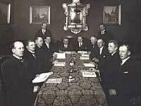 Studiekreds i samfundslære i AOF København 1927-1928.