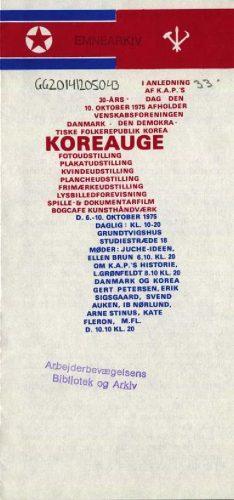 Folder fra Koreaugen 1975
