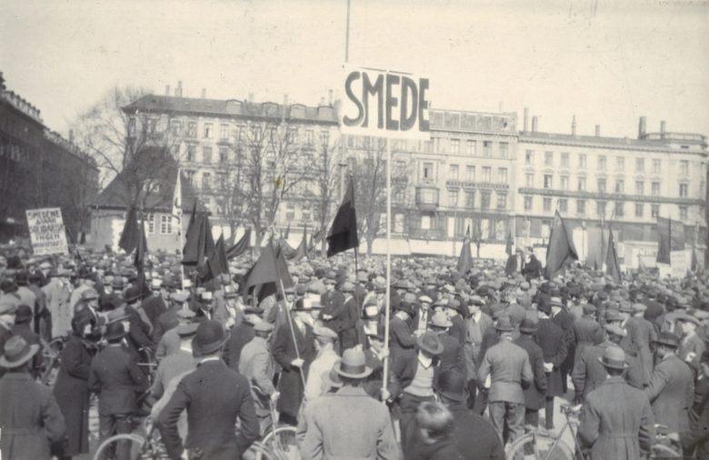 DKP's arbejdsløshedsdemonstration i februar 1932 startede ved Grønttorvet i København.