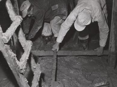 Bygningsarbejde 1950'erne – Ukendt fotograf