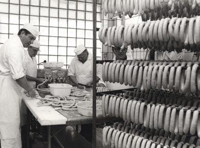 Pølsemagere, 1950'erne – Ukendt fotograf