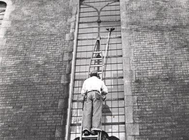 Vinduespudser, 1985. Foto: Ole Wildt