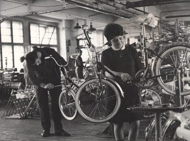 Cykelværksted, 1960'erne – Ukendt fotograf