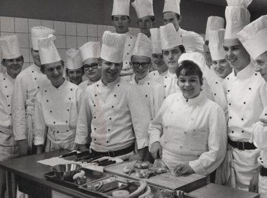 Kokkeelever 1966 – Foto: Jørgen Sciøtz
