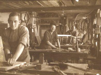 Snedkerværksted, 1927. Ukendt fotograf