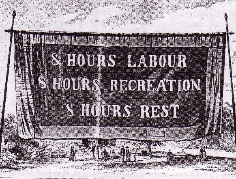 Kravet om 8-timersdagen >