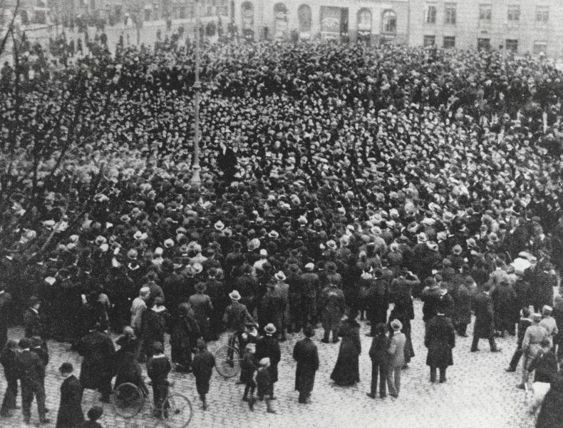 Stormen på Børsen 1918>